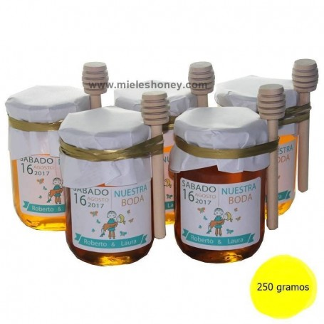 DESIGN honey pot 250g. Wedding gift
