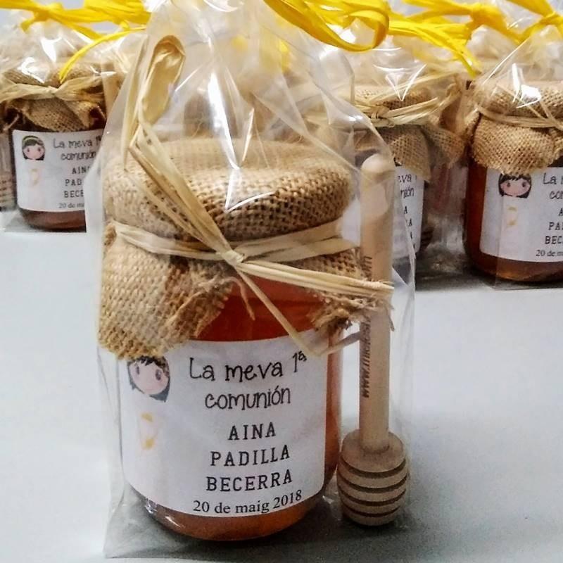 tarrito miel para regalo de comunión y boda