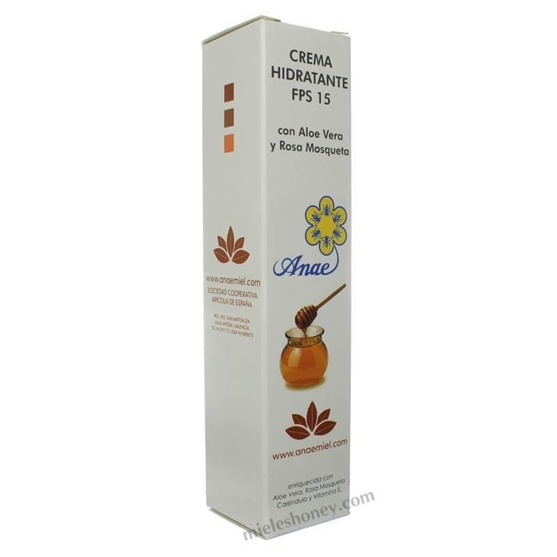 Crema hidratante Aloe vera y Rosa mosqueta FPS 15 - ANAE