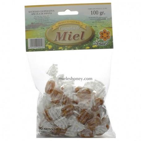 Caramelos de Miel con Almendras 100g.