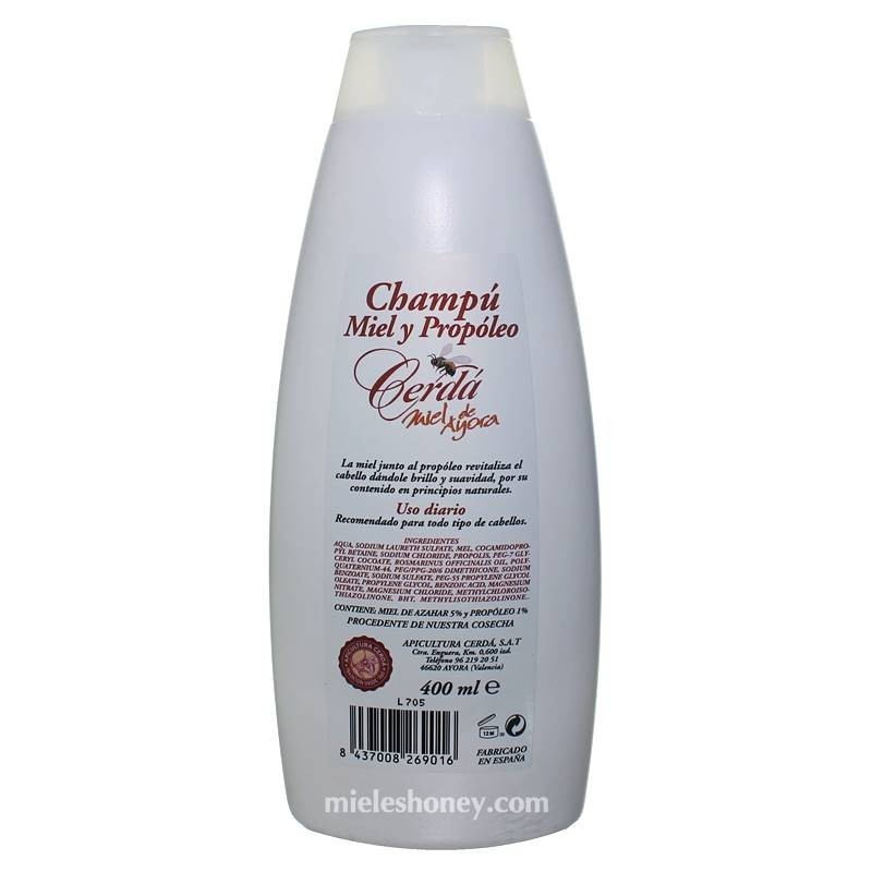 Honey and propolis shampoo 400 ml .