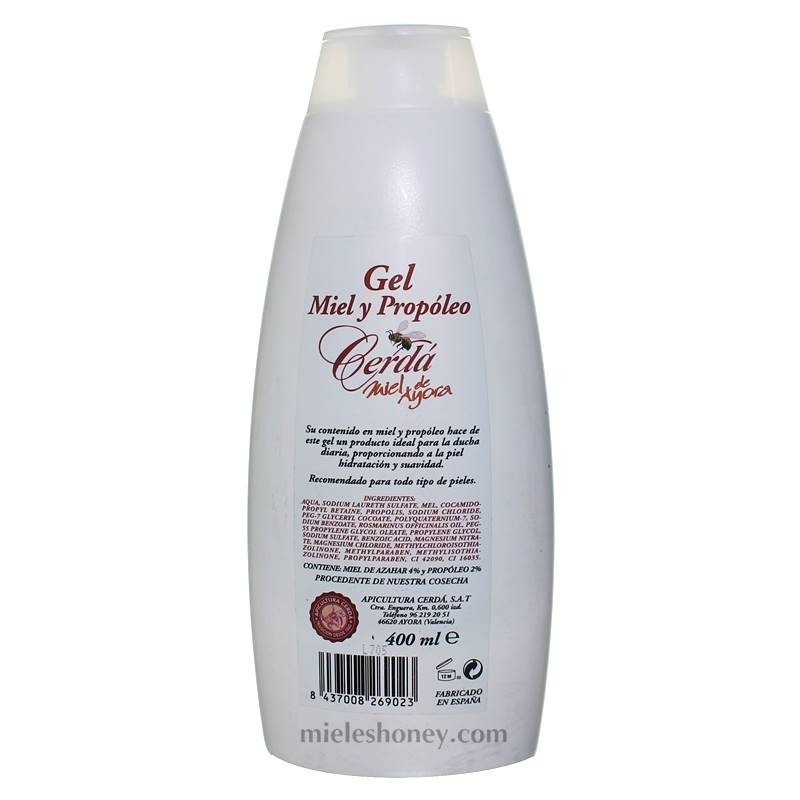 Honey and propolis gel 400ml .