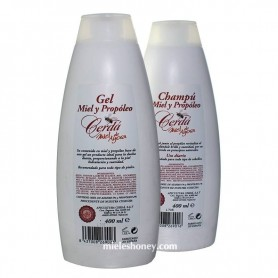 KIT Honey and Propolis Gel / Shampoo 400ml .