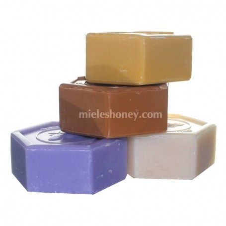 KIT 4 soaps Hex (honey , pollen, royal jelly, propolis)