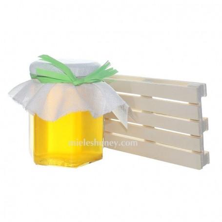 Tarro de miel 250 g. y MINI PALET- Regalo Bodas y eventos