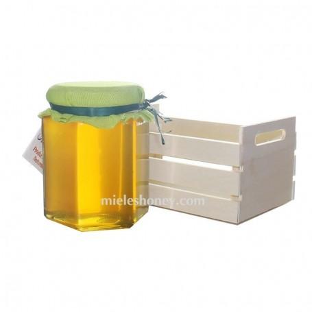 Tarro de miel 250 g. y MINI CAJITA - Regalo Bodas y eventos