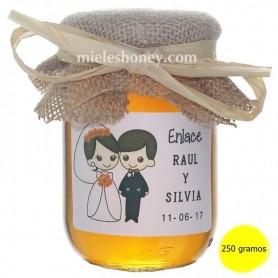 Tarrito de miel detalle regalo boda